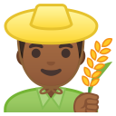 Man farmer medium dark skin tone icon