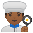 Man cook medium dark skin tone icon