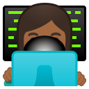 Woman technologist medium dark skin tone icon