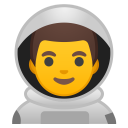 Man astronaut icon