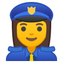 Woman police officer icon