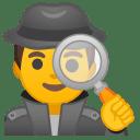 Man detective icon