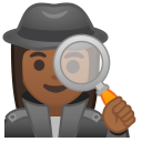 Woman detective medium dark skin tone icon