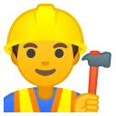 Man construction worker icon