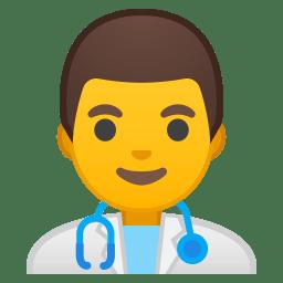 Man health worker icon