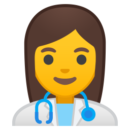 Woman health worker icon