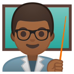 Man teacher medium dark skin tone icon