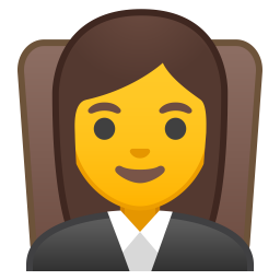 Woman judge icon