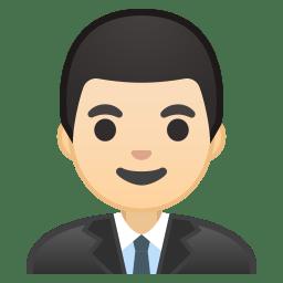 Man office worker light skin tone icon