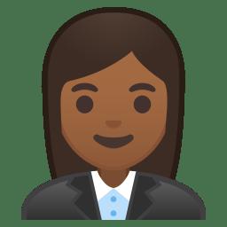 Woman office worker medium dark skin tone icon