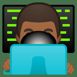 Man technologist medium dark skin tone icon