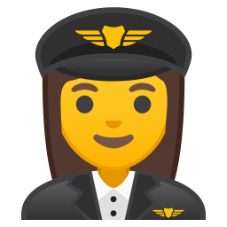 Woman pilot icon