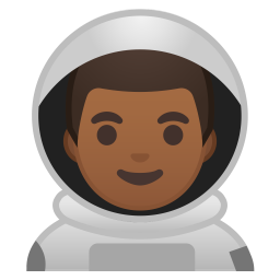 Man astronaut medium dark skin tone icon