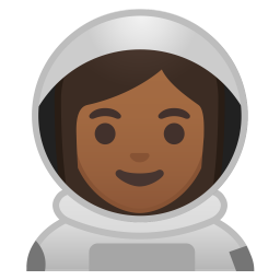 Woman astronaut medium dark skin tone icon
