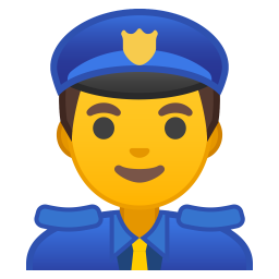Man police officer icon