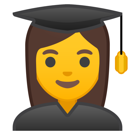 Woman student icon