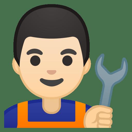 10279-man-mechanic-light-skin-tone icon