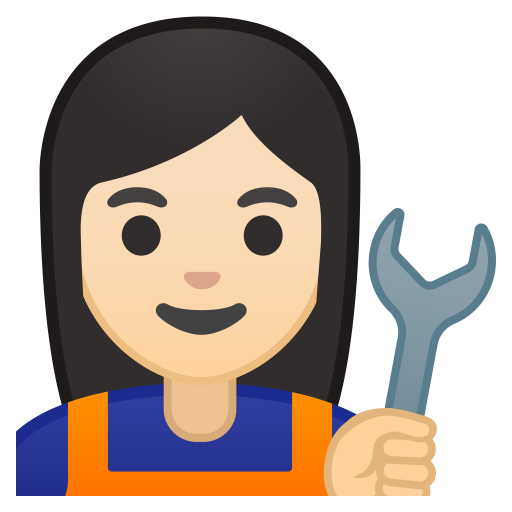 10285-woman-mechanic-light-skin-tone icon
