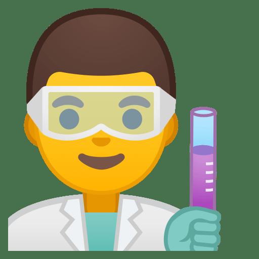 Man scientist icon
