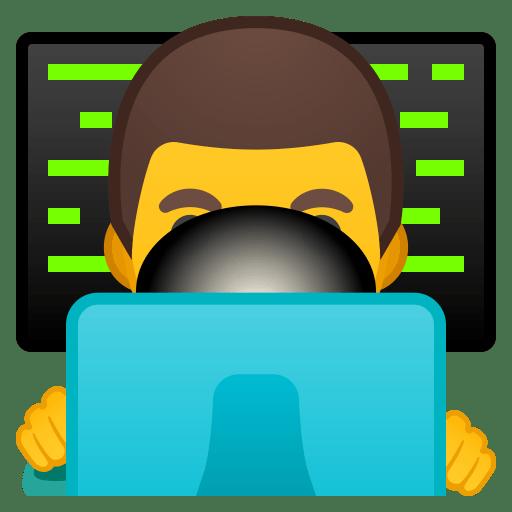 Man technologist icon