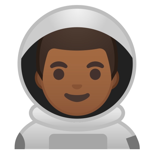Man astronaut medium dark skin tone icon