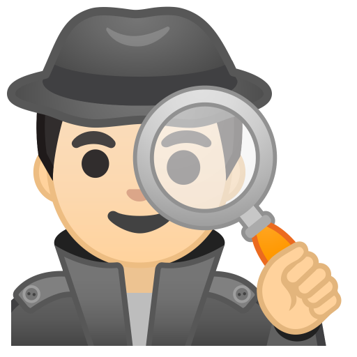 10452-man-detective-light-skin-tone icon