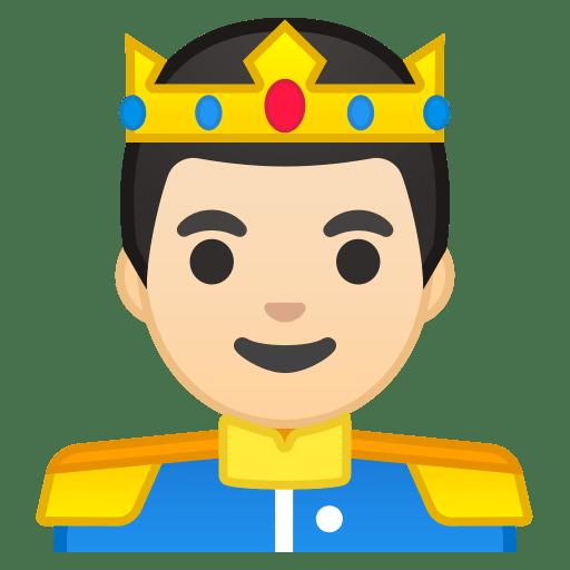 Prince light skin tone icon