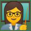Woman teacher icon