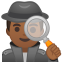 Man detective medium dark skin tone icon