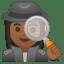 10472-woman-detective-medium-dark-skin-tone icon