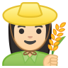 10261-woman-farmer-light-skin-tone icon
