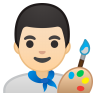 10351-man-artist-light-skin-tone icon