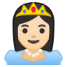 10542-princess-light-skin-tone icon