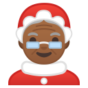 Mrs. Claus medium dark skin tone icon