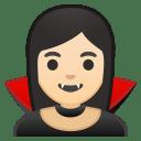 Woman vampire light skin tone icon