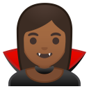 Woman vampire medium dark skin tone icon