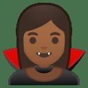 Woman vampire medium dark skin tone icon