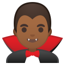 Man vampire medium dark skin tone icon