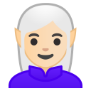 Woman elf light skin tone icon