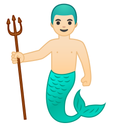 Merman light skin tone icon
