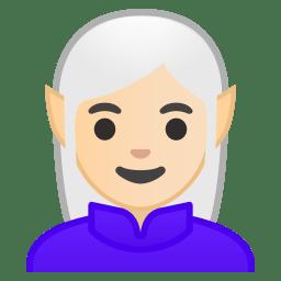 Woman elf light skin tone icon
