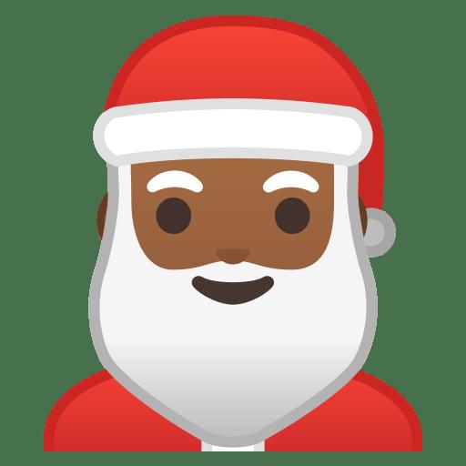 Santa Claus medium dark skin tone icon
