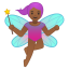 Woman fairy medium dark skin tone icon