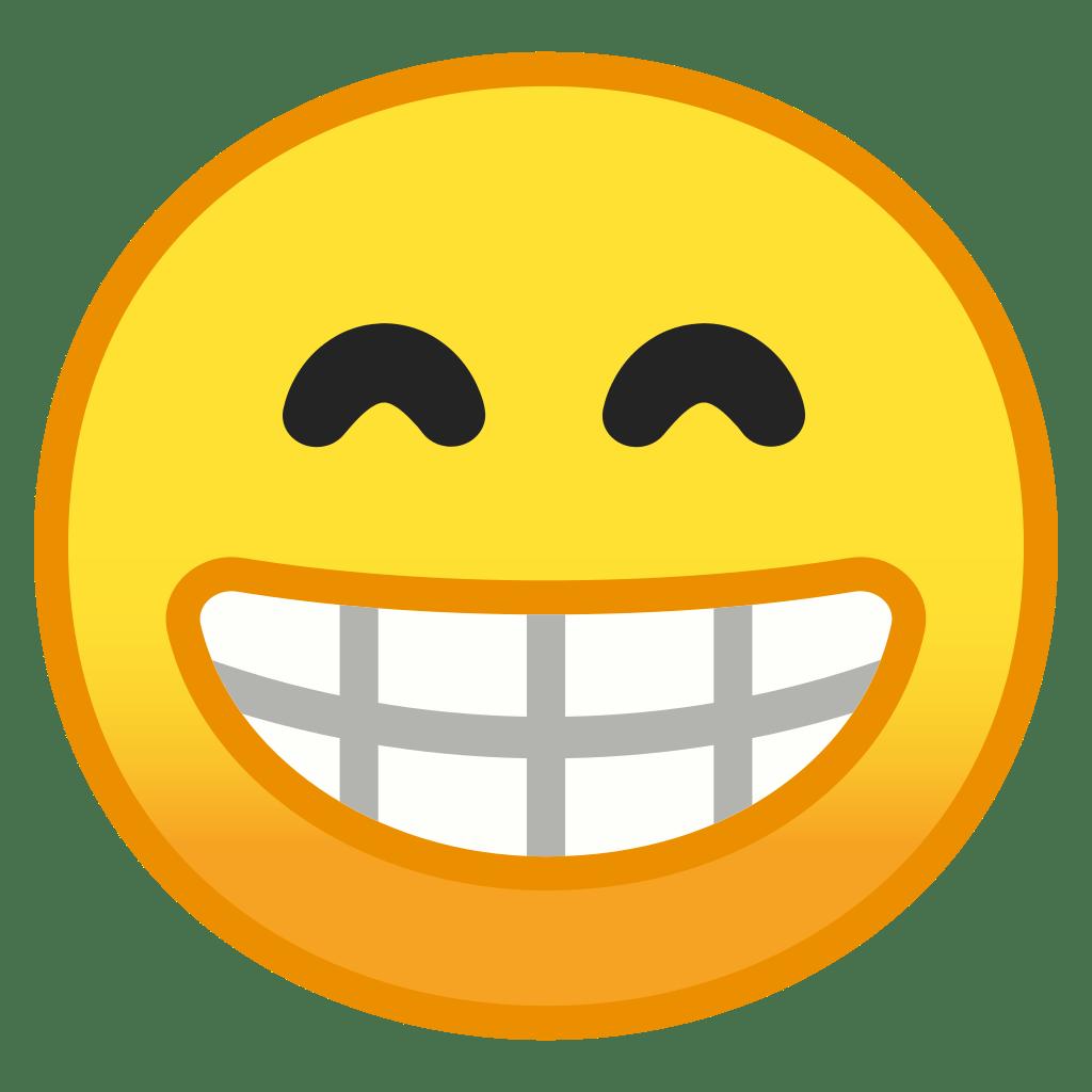 beaming face with smiling eyes icon noto emoji smileys
