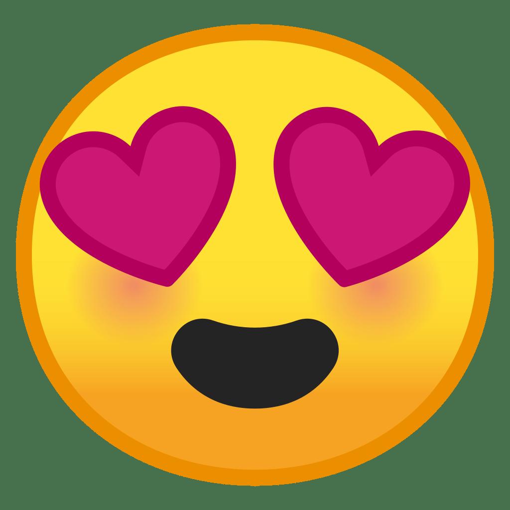 Smiley Herzchenaugen