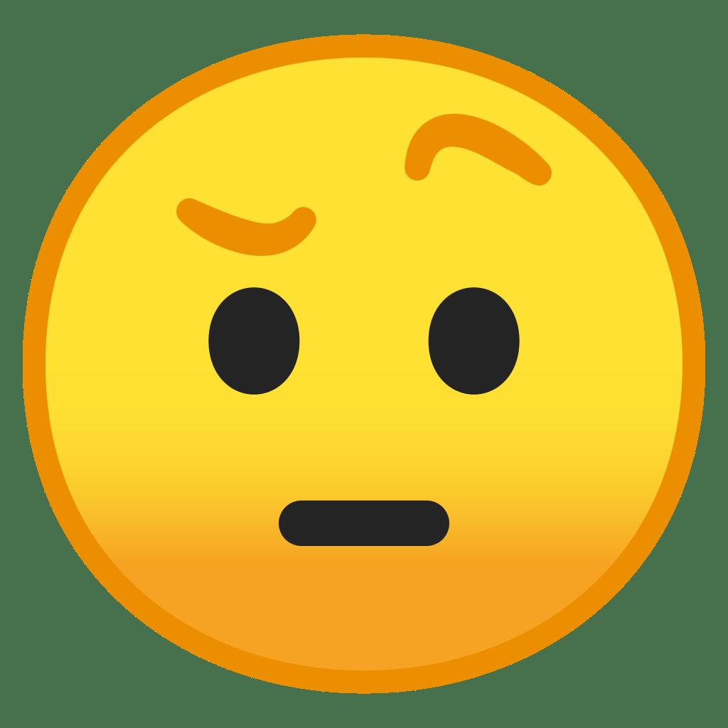 Face With Raised Eyebrow Icon Noto Emoji Smileys Iconset Google