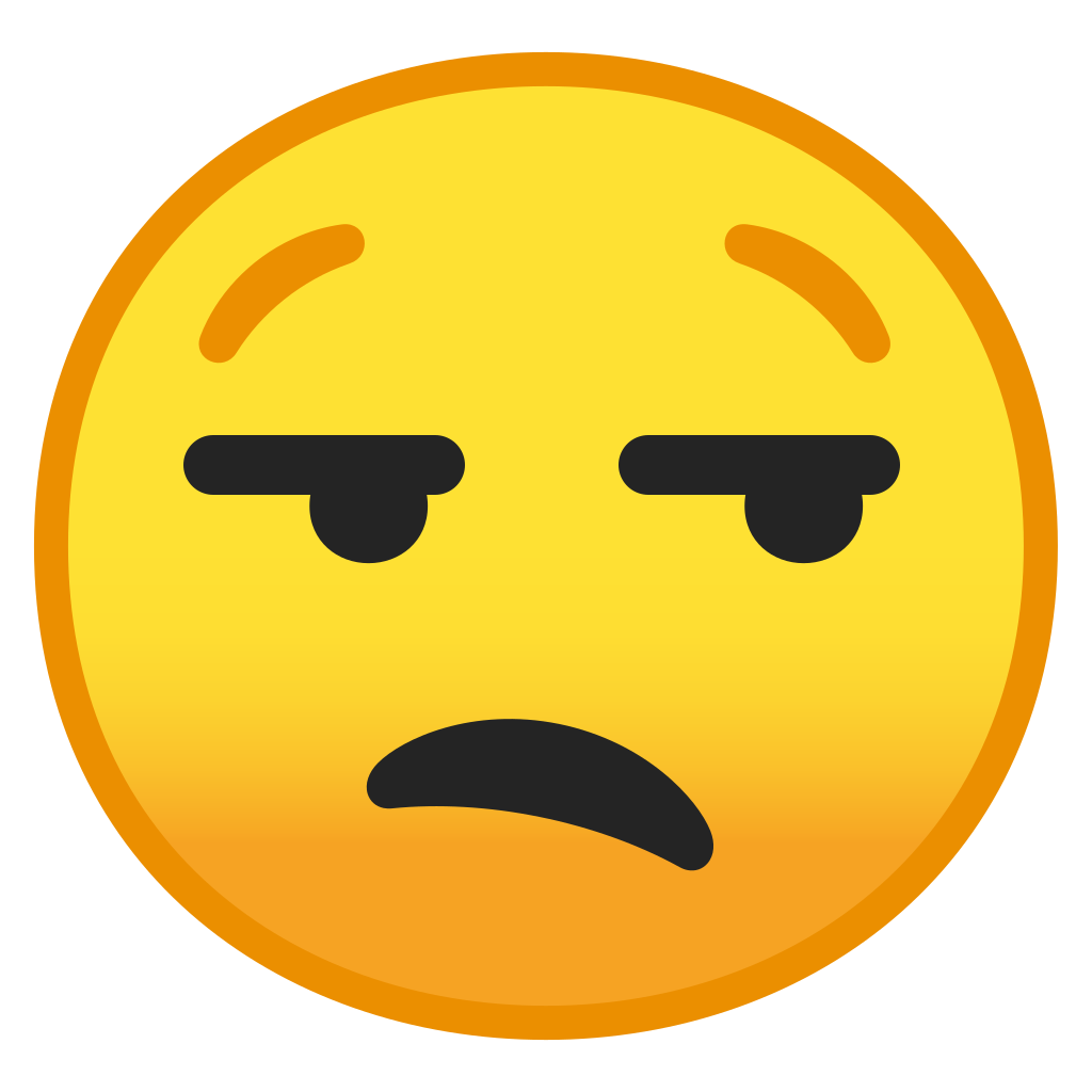 Unamused Face Icon Noto Emoji Smileys Iconset Google