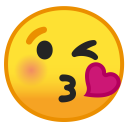 Face blowing a kiss icon
