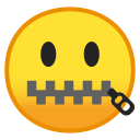 Zipper mouth face icon