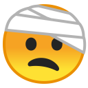 Face with head bandage icon